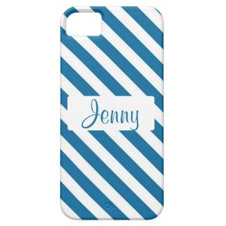 Raya azul conocida personalizada iPhone 5 Case-Mate fundas