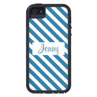 Raya azul conocida personalizada iPhone 5 Case-Mate carcasas