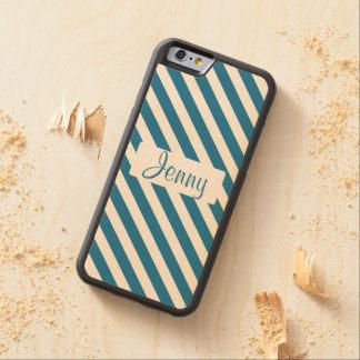 Raya azul conocida personalizada funda de iPhone 6 bumper arce
