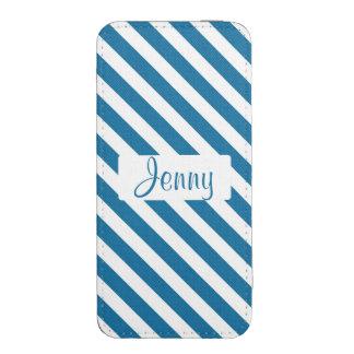 Raya azul conocida personalizada funda acolchada para iPhone