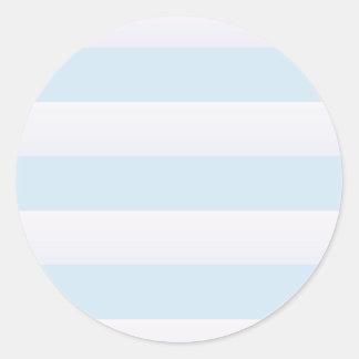 Raya azul de la playa pegatina redonda