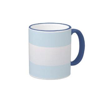 Raya azul de la playa taza a dos colores