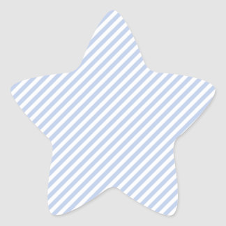 Raya azul de la tienda de Alicia en jardín inglés Pegatina En Forma De Estrella
