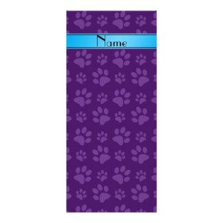 Raya azul de las patas púrpuras conocidas de tarjeta publicitaria