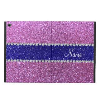 Raya azul del brillo púrpura en colores pastel
