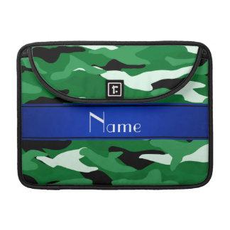 Raya azul del camuflaje verde conocido de encargo fundas macbook pro