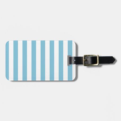 Raya azul etiquetas maletas