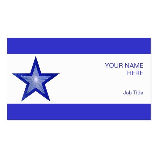 Raya azul marino del blanco de la estrella del tarjetas de visita