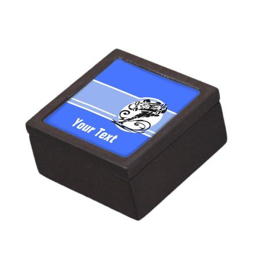 Raya azul; Patinador Caja De Joyas De Calidad