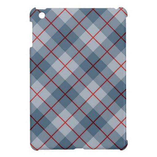 Raya Azul-Roja de la tela escocesa diagonal