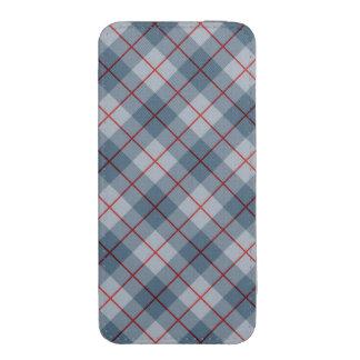 Raya Azul-Roja de la tela escocesa diagonal Bolsillo Para iPhone