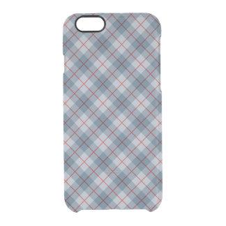 Raya Azul-Roja de la tela escocesa diagonal Funda Clearly™ Deflector Para iPhone 6 De Uncommon