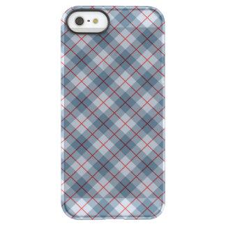 Raya Azul-Roja de la tela escocesa diagonal Funda Permafrost™ Deflector Para iPhone 5 De Uncom