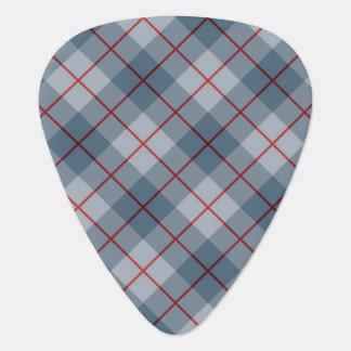 Raya Azul-Roja de la tela escocesa diagonal Uñeta De Guitarra