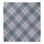 Raya Azul-Roja de la tela escocesa diagonal Bandana
