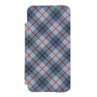 Raya Azul-Roja de la tela escocesa diagonal Funda Billetera Para iPhone 5 Watson
