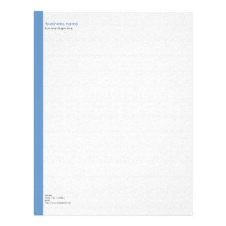Raya azul simple moderna elegante llana en blanco membrete personalizado