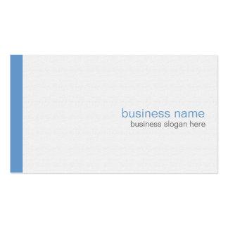 Raya azul simple moderna elegante llana en blanco tarjetas de visita
