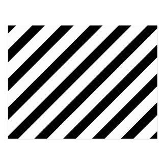 Raya básica 1 blanco y negro postales