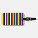 Raya básica de los colores etiquetas para equipaje