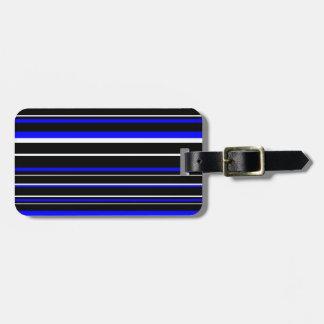 Raya blanca azul negra moderna del código de etiquetas para equipaje