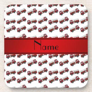 Raya blanca conocida personalizada del rojo de los posavasos de bebida