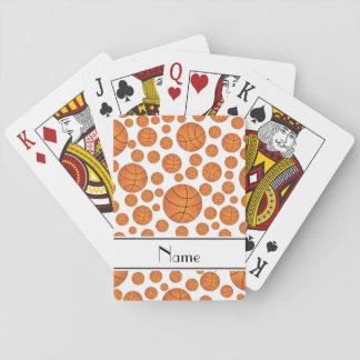 Raya blanca del blanco de los baloncestos de la barajas de cartas