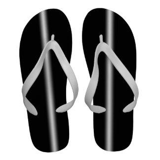 Raya blanca descolorada en negro sandalias de playa