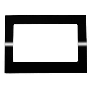 Raya blanca descolorada en negro foto de imanes