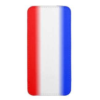 Raya blanca y azul roja funda acolchada para iPhone