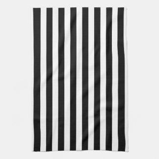 Raya blanco y negro de la cabaña toallas de mano