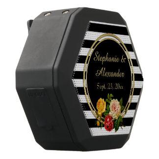 Raya blanco y negro floral del vintage altavoz con bluetooth