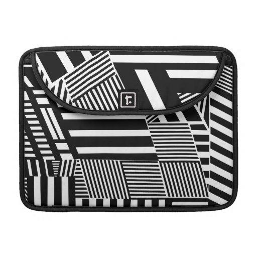 Raya blanco y negro fundas macbook pro