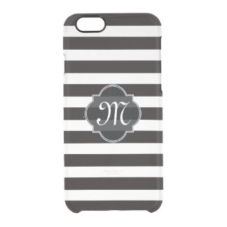 Raya blanco y negro intrépida funda clear para iPhone 6/6S