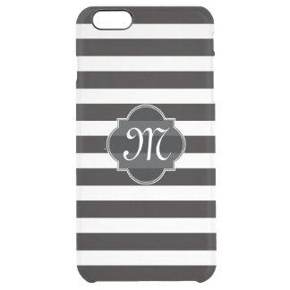 Raya blanco y negro intrépida funda clear para iPhone 6 plus