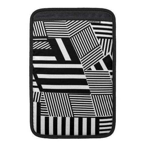 Raya blanco y negro intrépida funda macbook air
