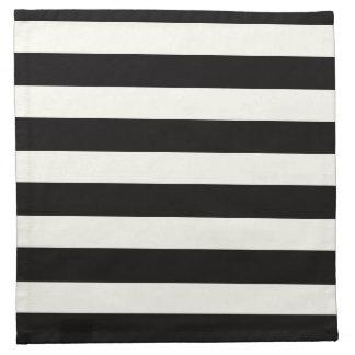 Raya blanco y negro servilleta imprimida