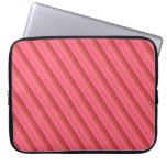 Raya color de rosa funda portátil
