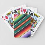 Raya colorida combinada mexicana al sudoeste cartas de juego