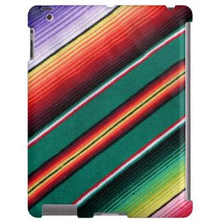 Raya colorida combinada mexicana al sudoeste funda para iPad