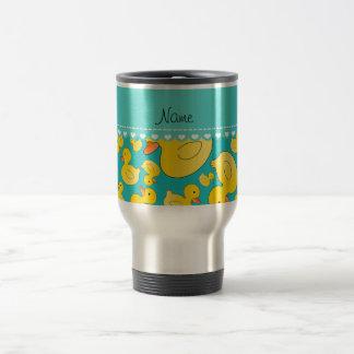 Raya conocida de encargo del corazón de los rubber taza de café