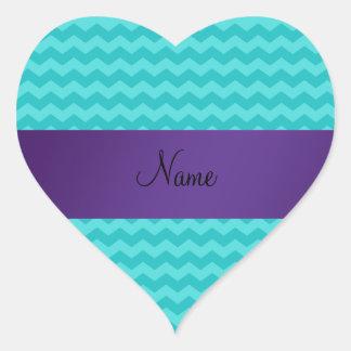 Raya conocida personalizada de la púrpura de los pegatina corazón personalizadas