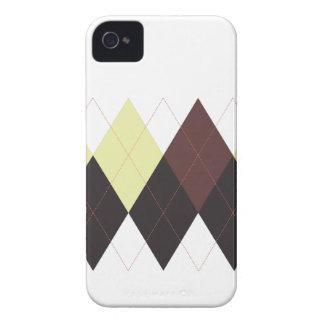 Raya de Argyle, crema, blanco y iPhone 4/4s de los iPhone 4 Protectores
