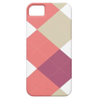 Raya de Argyle, rosa y coral, caso del iPhone 5 iPhone 5 Carcasa