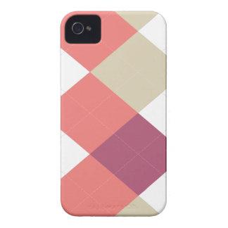Raya de Argyle, rosa y coral, iPhone 4/4s iPhone 4 Funda