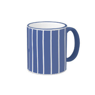 Raya de azules claros taza de dos colores