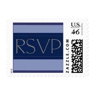 Raya de azules marinos RSVP - pequeño