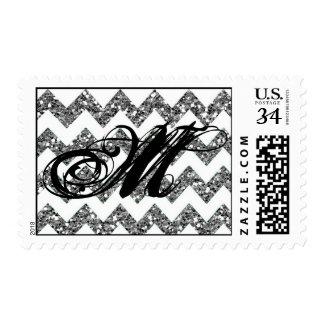 Raya de Chevron del brillo de la plata de 20 sello