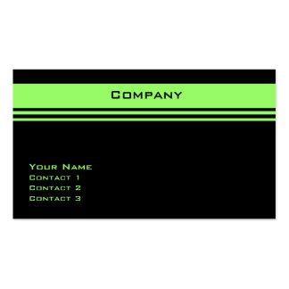 Raya de encargo (verde del neón) tarjetas de visita