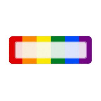 Raya de la bandera del arco iris del orgullo gay d etiqueta de remite